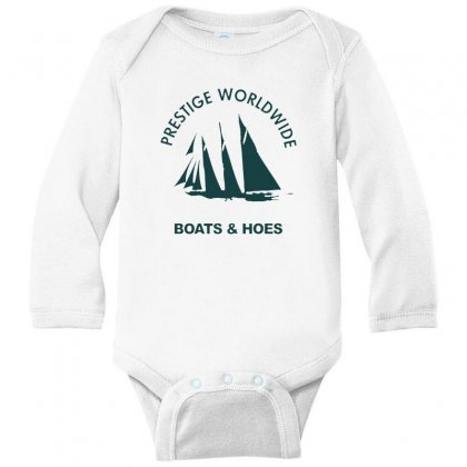 Boats N Hoes Long Sleeve Baby Bodysuit Designed By Alan