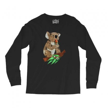 Black Koala Beers Long Sleeve Shirts Designed By Alan