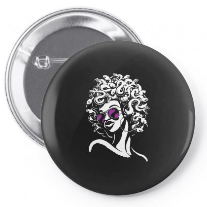 Funky Medusa Pin-back Button Designed By Allison Serenity