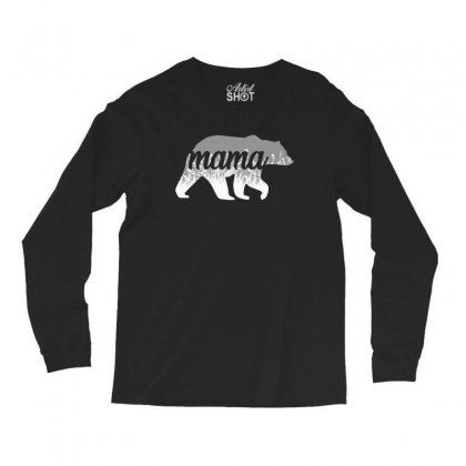 Mama Bear Floral Long Sleeve Shirts Designed By Alan