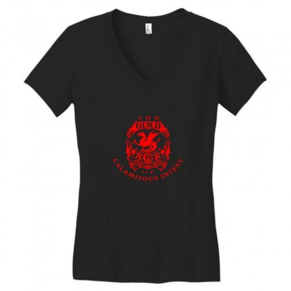 Guild Of Calamitous Intent Women's V-neck T-shirt Designed By Willo