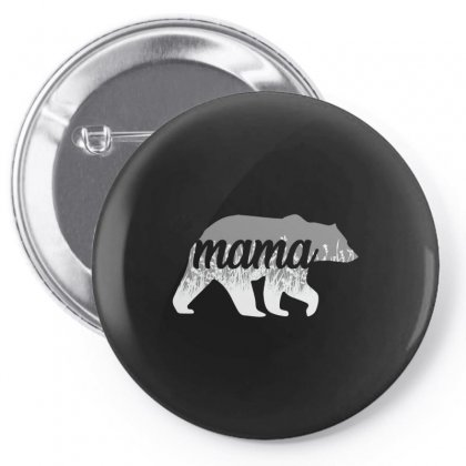 Mama Bear Floral Pin-back Button Designed By Alan