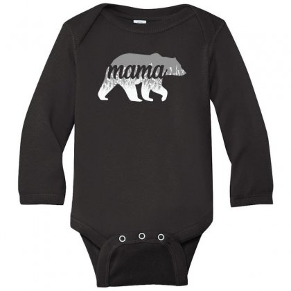 Mama Bear Floral Long Sleeve Baby Bodysuit Designed By Alan