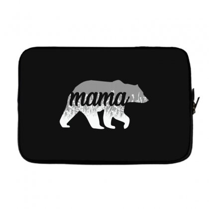 Mama Bear Floral Laptop Sleeve Designed By Alan
