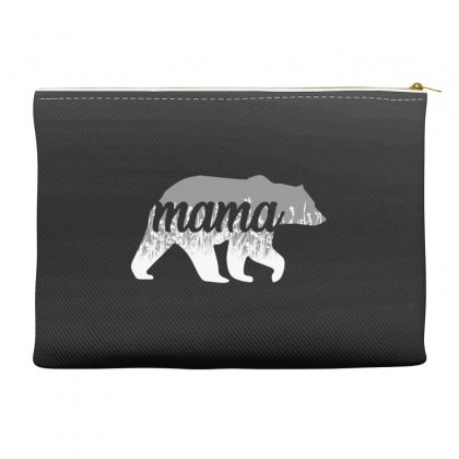 Mama Bear Floral Accessory Pouches Designed By Alan