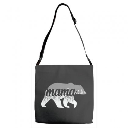 Mama Bear Floral Adjustable Strap Totes Designed By Alan
