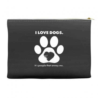 Love Dogs Hate People Accessory Pouches Designed By Alan