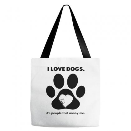 Love Dogs Hate People Tote Bags Designed By Alan