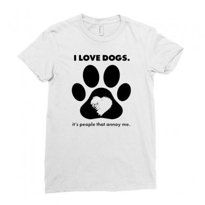 Love Dogs Hate People Ladies Fitted T-shirt Designed By Alan