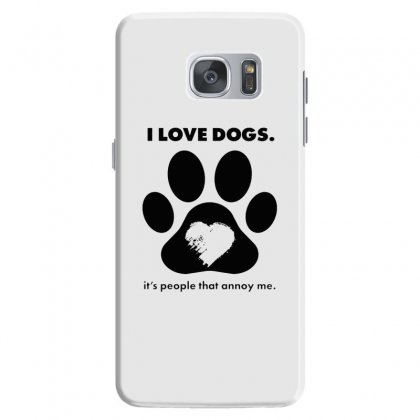 Love Dogs Hate People Samsung Galaxy S7 Case Designed By Alan