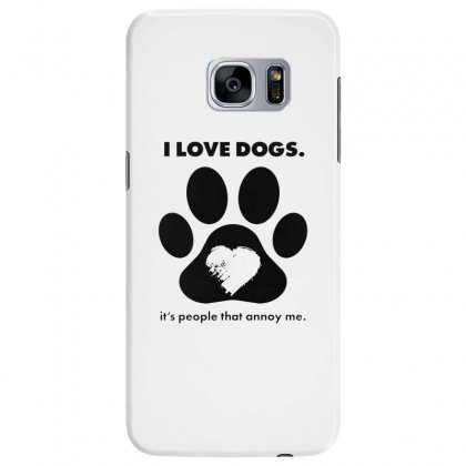 Love Dogs Hate People Samsung Galaxy S7 Edge Case Designed By Alan