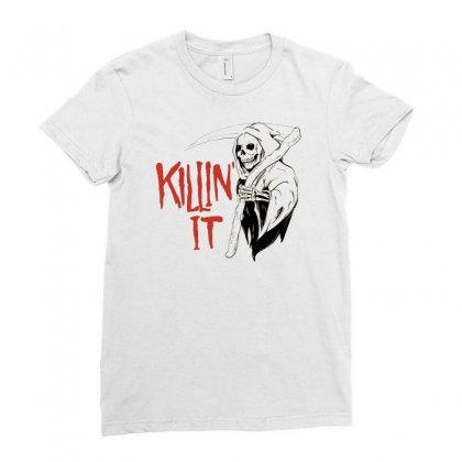 Killin It Ladies Fitted T-shirt Designed By Allison Serenity
