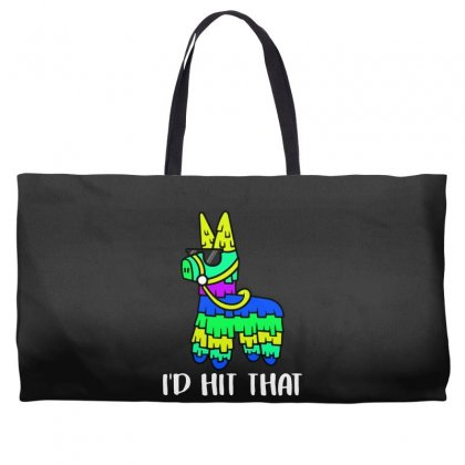I'd Hit That Pinata Weekender Totes Designed By Alan