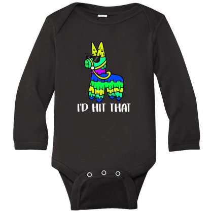 I'd Hit That Pinata Long Sleeve Baby Bodysuit Designed By Alan