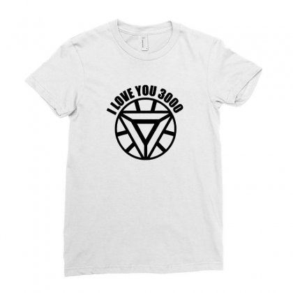 I Love You 3000 Three Thousand Times Ladies Fitted T-shirt Designed By Willo