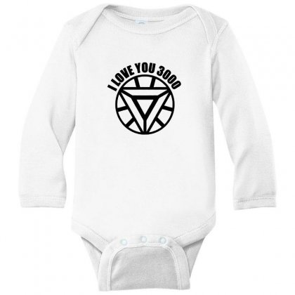 I Love You 3000 Three Thousand Times Long Sleeve Baby Bodysuit Designed By Willo