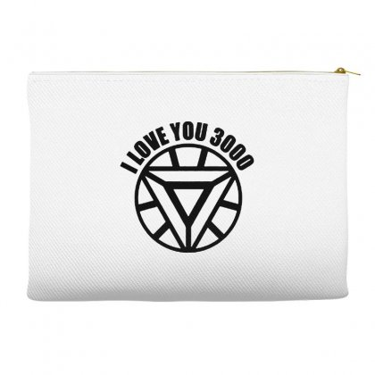 I Love You 3000 Three Thousand Times Accessory Pouches Designed By Willo