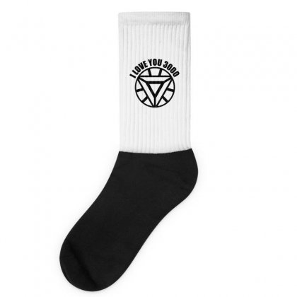 I Love You 3000 Three Thousand Times Socks Designed By Willo