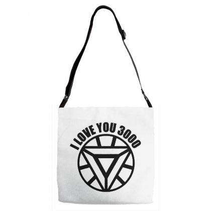 I Love You 3000 Three Thousand Times Adjustable Strap Totes Designed By Willo