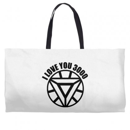 I Love You 3000 Three Thousand Times Weekender Totes Designed By Willo