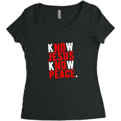 Know Jesus Know Peace Merch Women's Triblend Scoop T-shirt Designed By Willo
