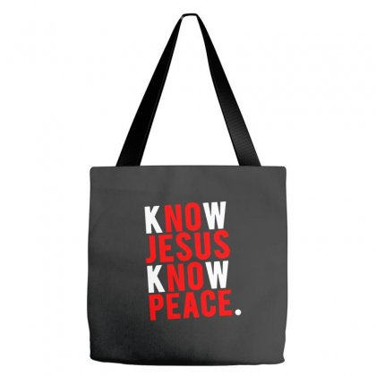 Know Jesus Know Peace Merch Tote Bags Designed By Willo