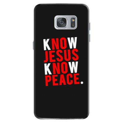 Know Jesus Know Peace Merch Samsung Galaxy S7 Case Designed By Willo