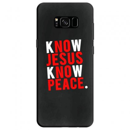 Know Jesus Know Peace Merch Samsung Galaxy S8 Case Designed By Willo