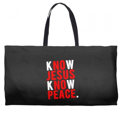 Know Jesus Know Peace Merch Weekender Totes Designed By Willo