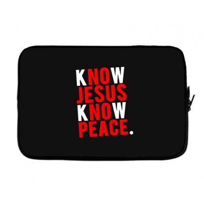 Know Jesus Know Peace Merch Laptop Sleeve Designed By Willo