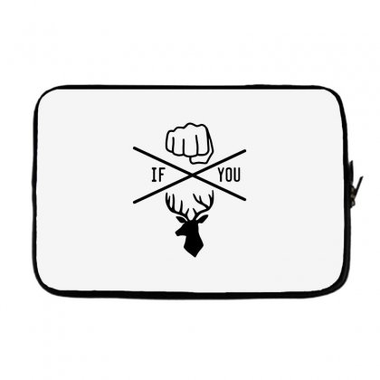 Knuck If You Buck Tee Laptop Sleeve Designed By Willo