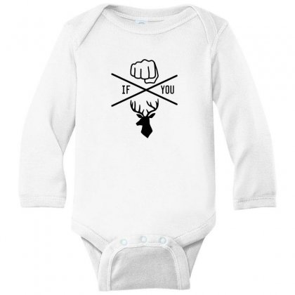 Knuck If You Buck Tee Long Sleeve Baby Bodysuit Designed By Willo