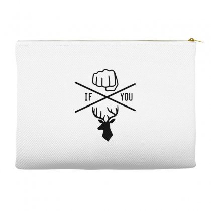 Knuck If You Buck Tee Accessory Pouches Designed By Willo