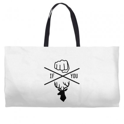 Knuck If You Buck Tee Weekender Totes Designed By Willo