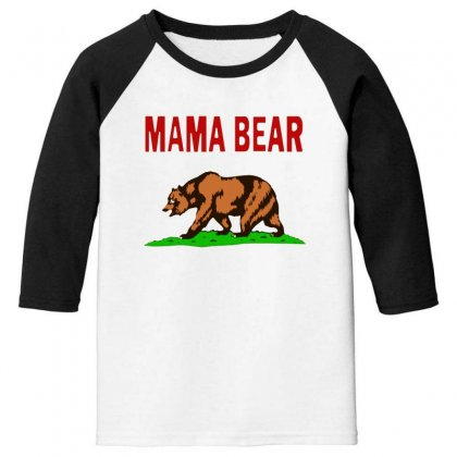 Mama Bear Youth 3/4 Sleeve Designed By Alan