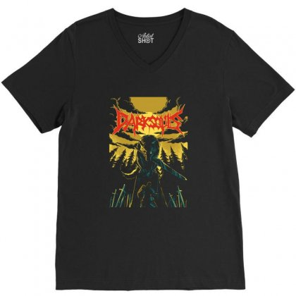 Unofficial Darksouls Metal Band V-neck Tee Designed By Allison Serenity