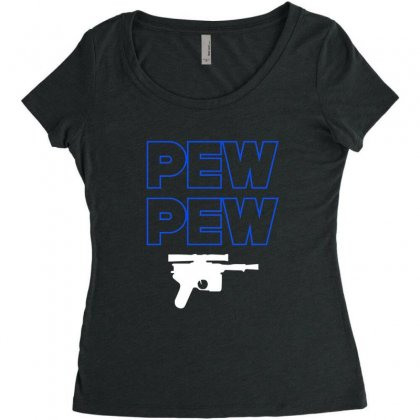 Pew Pew Women's Triblend Scoop T-shirt Designed By Alan