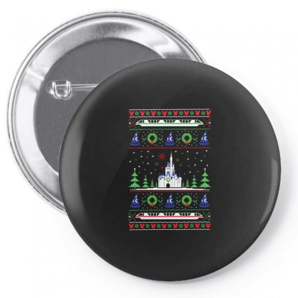Magical Kingdom Christmas Pin-back Button Designed By Allison Serenity