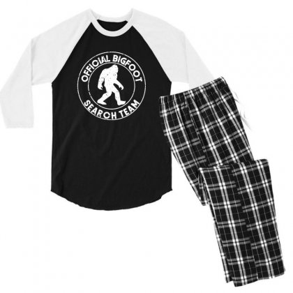 Official Bigfoot Search Team Men's 3/4 Sleeve Pajama Set Designed By Alan