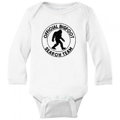 Official Bigfoot Search Team Long Sleeve Baby Bodysuit Designed By Alan