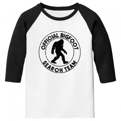 Official Bigfoot Search Team Youth 3/4 Sleeve Designed By Alan