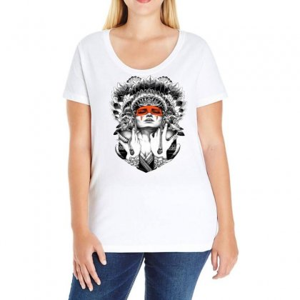 Indian Native Americans In The United State Ladies Curvy T-shirt Designed By Salmanaz