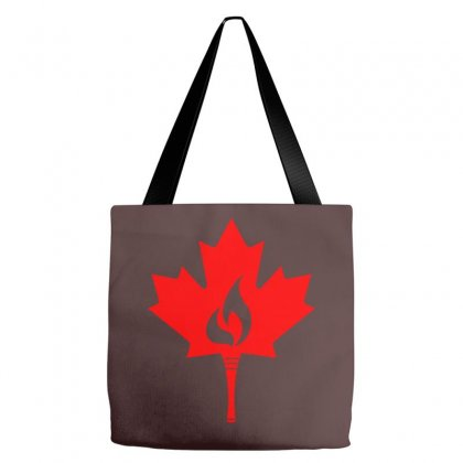 Canada Torch Creative Icon Tote Bags Designed By Lion Star Art
