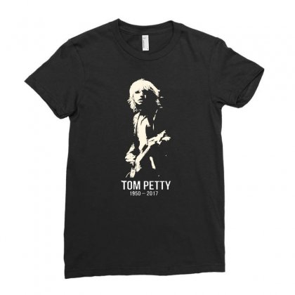 Tom Petty Ladies Fitted T-shirt Designed By Allison Serenity