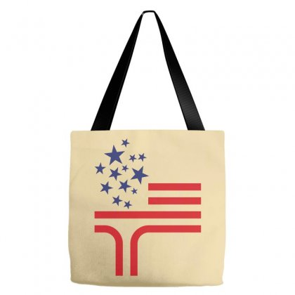 Flag Element Of The United States As A Torch Tote Bags Designed By Lion Star Art