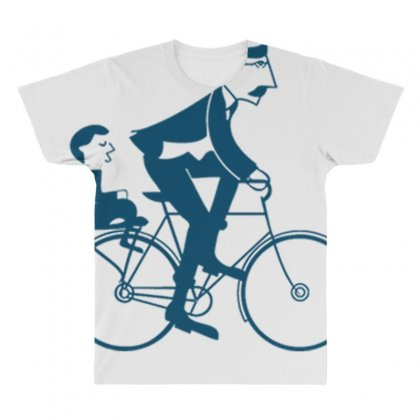 Papa Bike All Over Men's T-shirt Designed By Anrora