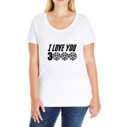 I Love You 3000 Three Thousand Times Ladies Curvy T-shirt Designed By Willo