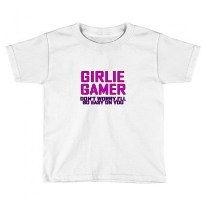 Girlie Gamer Toddler T-shirt Designed By Equinetee