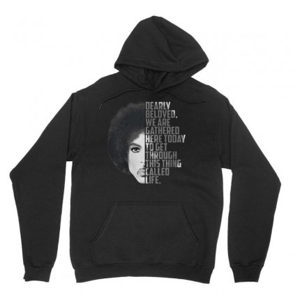 Dearly Beloved We Are Gathered Here Today Tee Unisex Hoodie Designed By Balqis Tees