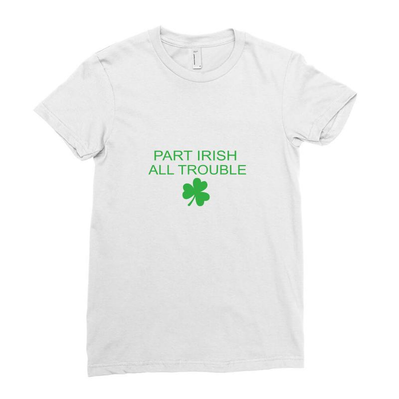 Part Iris All Trouble Ladies Fitted T-shirt   Artistshot